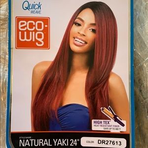 "NWT Outre Natural Yaki 24"" Straight Blonde Eco Wig"